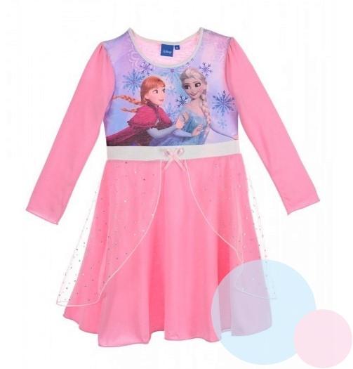 064e6b9a7d04 Princeznovské dívčí šaty FROZEN růžové