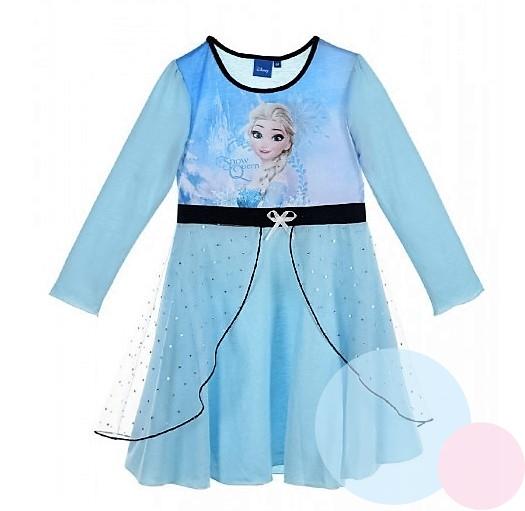 c61a62f0de2c Princeznovské dívčí šaty FROZEN tyrkys