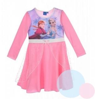 808b563f047e Princeznovské dívčí šaty FROZEN růžové