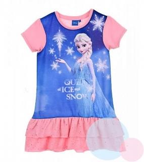 f9bad5a81414 Dívčí šaty FROZEN se sukýnkou růžové